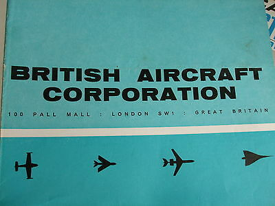 BRITISH AIRCRAFT CORPORATION FOLDOUT BROCHURE 60s ORIGINAL STORED FOR 40+ YEARS