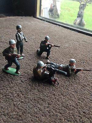 Timpo G.I Genuine Toy Soldiers X5