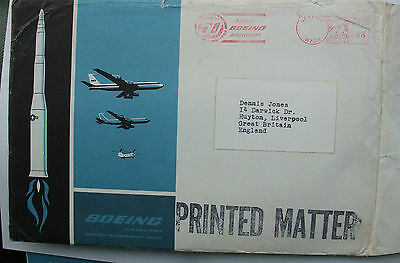 1960s BOEING AIRCRAFT COMPANY PICTURE PACKET+ BOEING ENVELOPE. STORED 40+YEARS