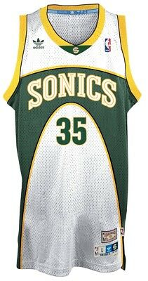 9bc3efb42 Kevin Durant Seattle Supersonics Adidas NBA Throwback Swingman White Jersey