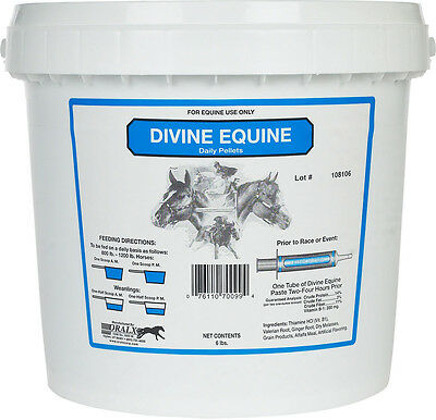 DIVINE EQUINE PELLETS Palatable Grain-Based  Herbs Vitamins Calming Horse 6lb.