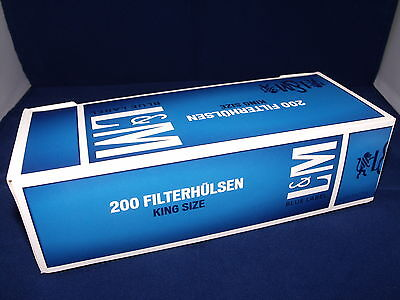 1000 LM BLUE King Size MAKE YOUR OWN Empty Cigarette Filter Tubes