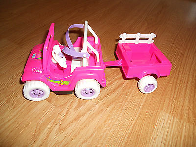 Barbie Doll 1997 Kelly Tommy Power Wheels Fisher Price Motorized Jeep Car