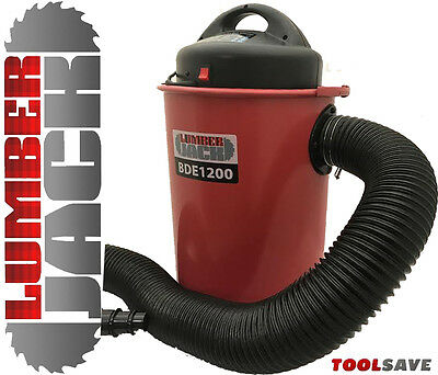 Lumberjack 1200W Portable Trade 50L Dust & Chip Collector Extractor 2M Hose 240v