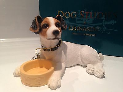 Jack Russell Dog With Bowl Ornament Gift Figure Figurine Brand New in Box