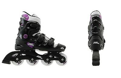 Adults/Ladies/Girls No Fear Inline Skates Roller Blades 5-6-7-8 UK (5-8) BNIB