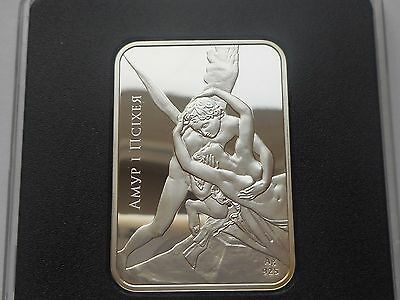 Belarus Weißrussland 20 rubles 2010 Cupid and Psyche  statue  Silver COA