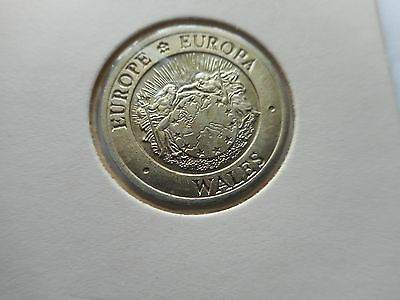 ECU - 1992 trial coin UNC. WALES Europe, Europa.