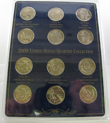 "2009 United States Quarter Collection - 12 Coins - ""D"" and ""P"" Mints"