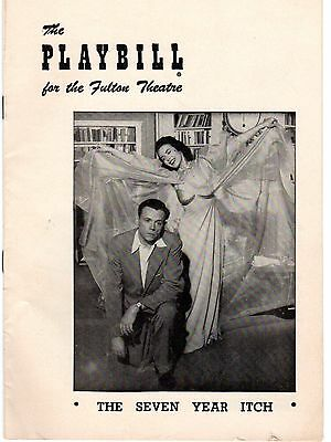 1953 Playbill The Seven Year Itch Tom Ewell Vanessa Brown Fulton Theatre