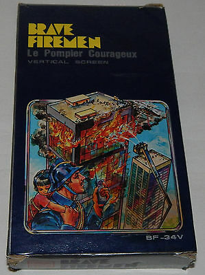 *vintage Brave Firemen Lcd Handheld Game & Clock/watch By Tronica In Box/boxed*
