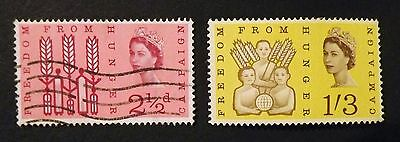 Queen Elizabeth 1963 'Freedom from Hunger' set of 2.