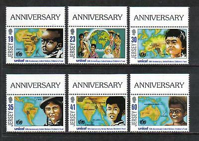Jersey 1996 UNICEF 50th Anniversary--Attractive Topical (740-45) MNH