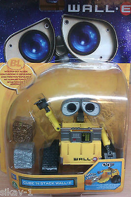 Wall E Cube 'n Stack Robot - Disney Pixar Thinkway Toys Figure 60226 -New In Box