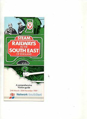 Network Southeast Steam Railways In The S.e Leaflet 1989