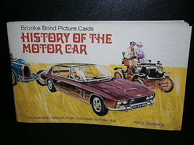 Brooke Bond PG Tips HISTORY of the MOTOR CAR 1968 - ALBUM and FULL SET of CARDS