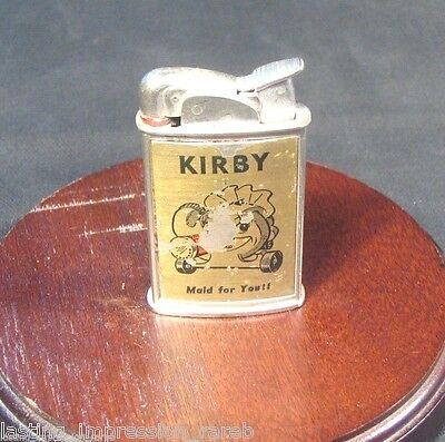 Vintage Kirby Vacuum Evans Spitfire Lighter US # 19023 Maid For You Litho Ad