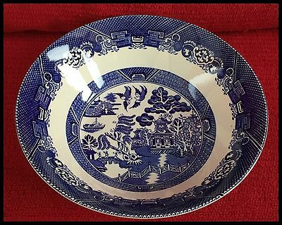 Woods Ware Willow Pattern Serving Bowl