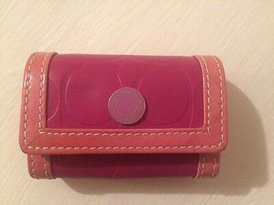 Coach Contact Lens Case Pink Genuine Leather