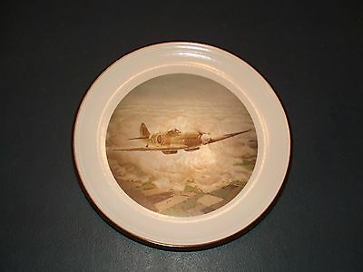 PURBECK POTTERY  DECORATIVE PLATE WITH SPITFIRE DESIGN - Artist John Evans