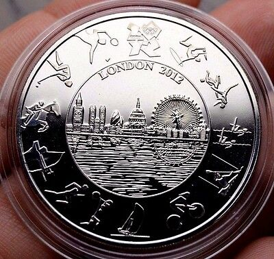 2012 London Five Pounds Olympics British Crown Coin Royal Mint Queen Elizabeth