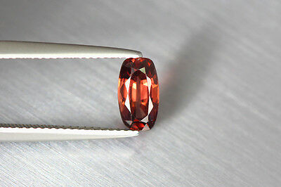1.810 Cts Full Fire 100% Natural Earth Mine Royal Red Zircon Loose Gemstone~!!!