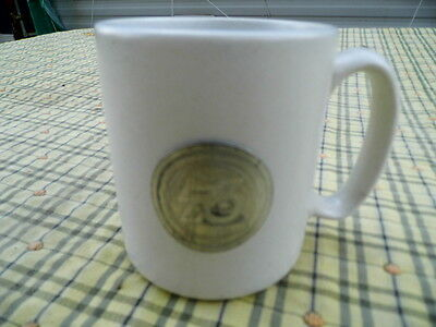 Vintage Pfaltzgraff Union  76 Gas Advertising Mug / Cup With Metal Badge