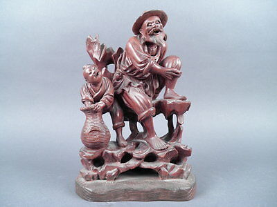 Fine Old Chinese Carved Wood Sculpture carving Sculpture Scholar Art #5