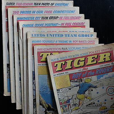 9 issues Tiger And Jag 1973