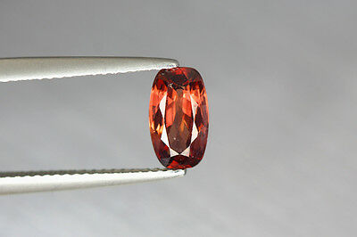 1.820 Cts Full Fire 100% Natural Earth Mine Royal Red Zircon Loose Gemstone~!!!