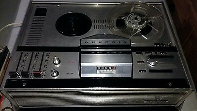 GRUNDIG TK121 Reel to Reel Tape Recorder with 6 tape reels