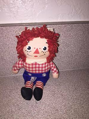 "7"" Knickerbocker Raggedy Andy Plush Doll Vintage"