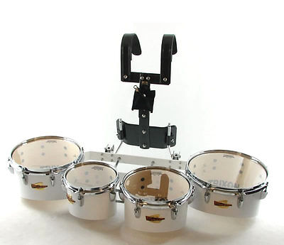 Trixon Field Series Pro Marching Toms set of 4 White