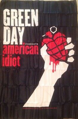 """Greenday American Idiot Cloth Front Row Flags, Durable Fabric Posters 30x42"""" NWB"""
