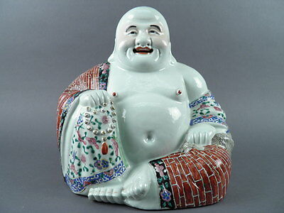 Fine Old Chinese 19th/20th Republic Porcelain Famille Rose Laughing Buddha