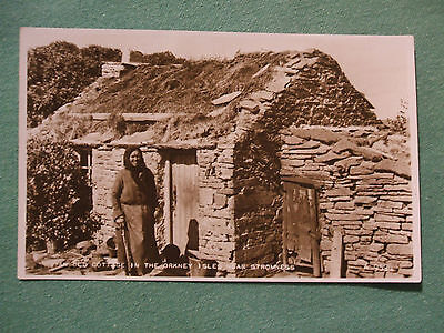 Postcard of Old Cottage , Orkney Isles near Stromness