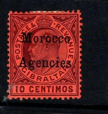 Morocco Agencies 1903 10c Dull Purple-Red SG18 - Mtd Mint