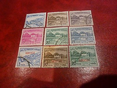 9 Pakistan STAMPS - 3 Official