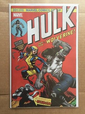 HULK 1 VOL 4 WOLVERINE McGUINNESS COLOR INCREDIBLE 181 HOMAGE VARIANT