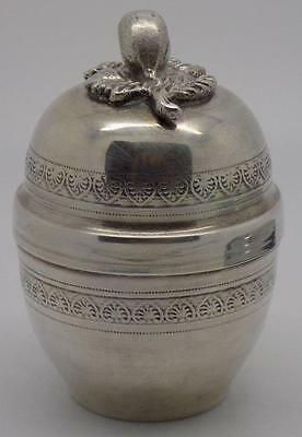 Vintage Solid Silver VERY RARE Pill / Snuff / Trinket Box - Stamped - Italian
