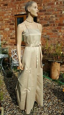 Flower Girl Dress BHS Champagne Gold wedding Bridesmaid Party Xmas Age 15
