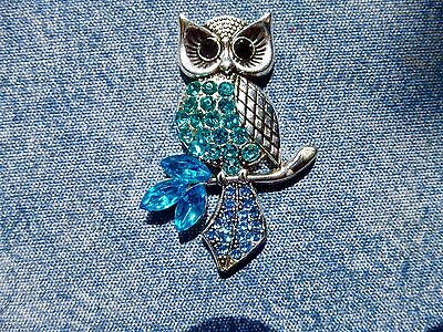 SPECIAL OFFER Blue Jewelled Owl Needle Minder Cross Stitch Gift Neodymium