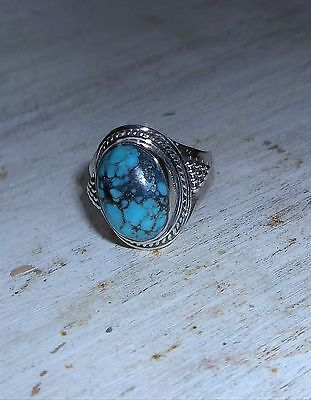 Sterling Silver Oval Turquoise Ring NEW