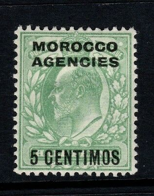 Morocco Agencies: 1907 Edward VII 5 centimos on ½d stamp SG112 - mounted mint