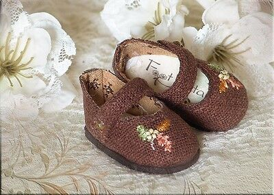 "FOOT PETALSDoll Shoes #40 for 13"" Effner Little Darling, 10"" Tonner Patsy - LE"