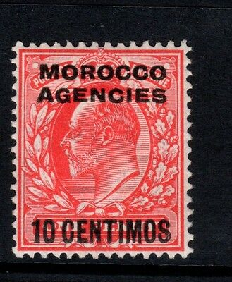 MOROCCO AGENCIES-1907-12 10c 1d Scarlet  Sg 113 MOUNTED MINT