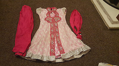 Indian Asian Girls Party Dress And Churidaar Size 32
