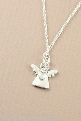 New Silver & Crystal Guardian Angel Pendant & Necklace Chain