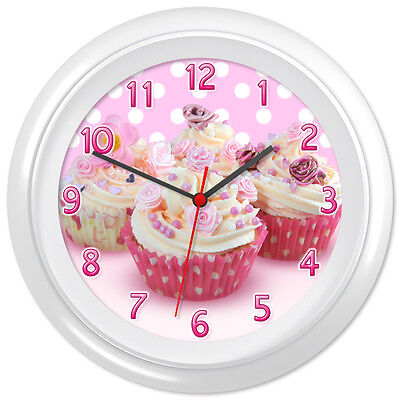 Cupcake Clock Cakes Buns Bakers Shop Gift #2 - Can be personalised