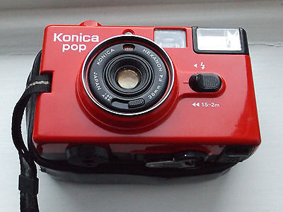 Vintage Konica pop 35mm Point And Shoot Camera, 36mm F4 Lens, #2951820